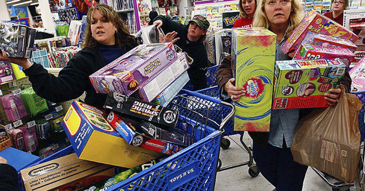 People shop on Black Friday