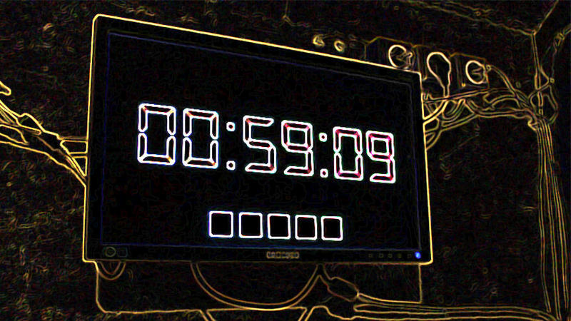 Timer in an escape room that shows an incredible record.