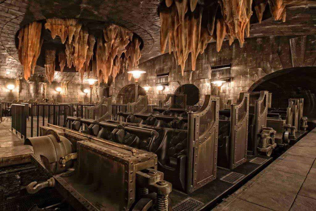Fantasy escape room with unrealistic interior.
