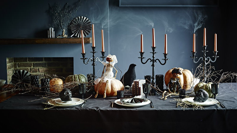 Dark horror escape room created especially for Halloween. The food on the table is not real, but it may be useful in the quest.