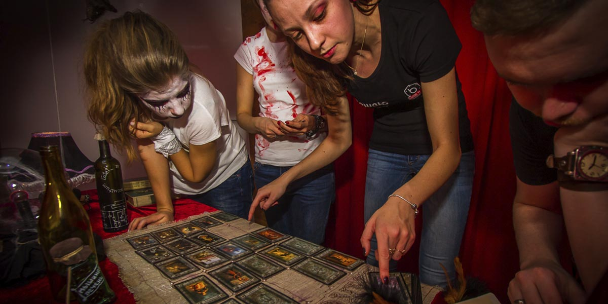 Children are passionate about going through an escape room.